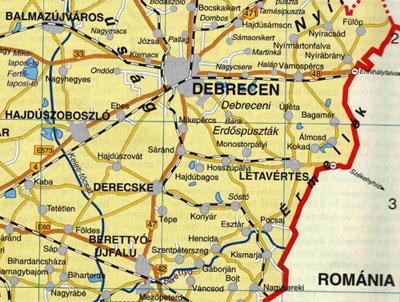 debrecen bánk térkép Elhelyezkedés debrecen bánk térkép
